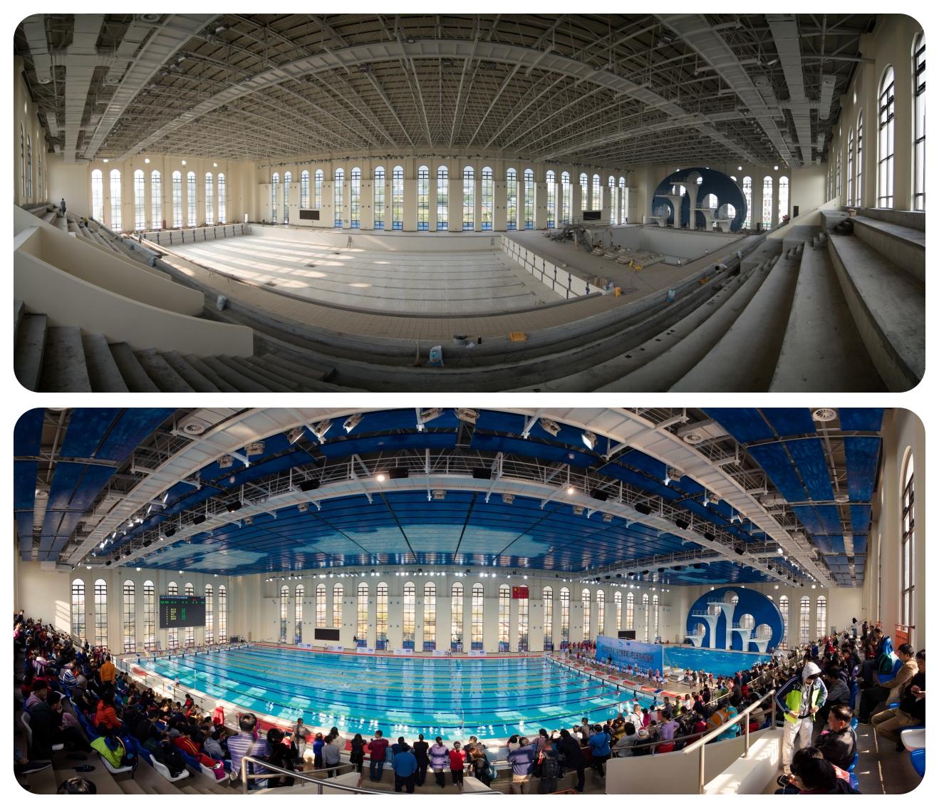 建造中的游泳馆及最终投入使用.jpg